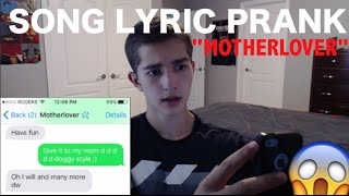 SONG LYRIC TEXT PRANK ON GUY - The Lonely Island 'Motherlover'
