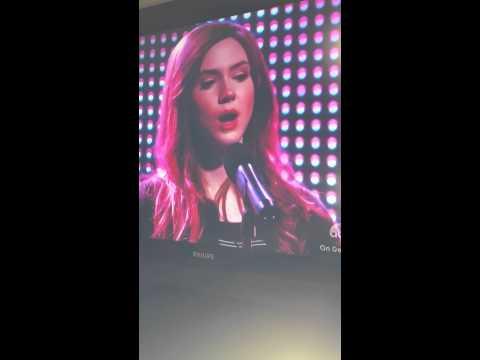 Karen Gillan singing Chandelier on Selfie