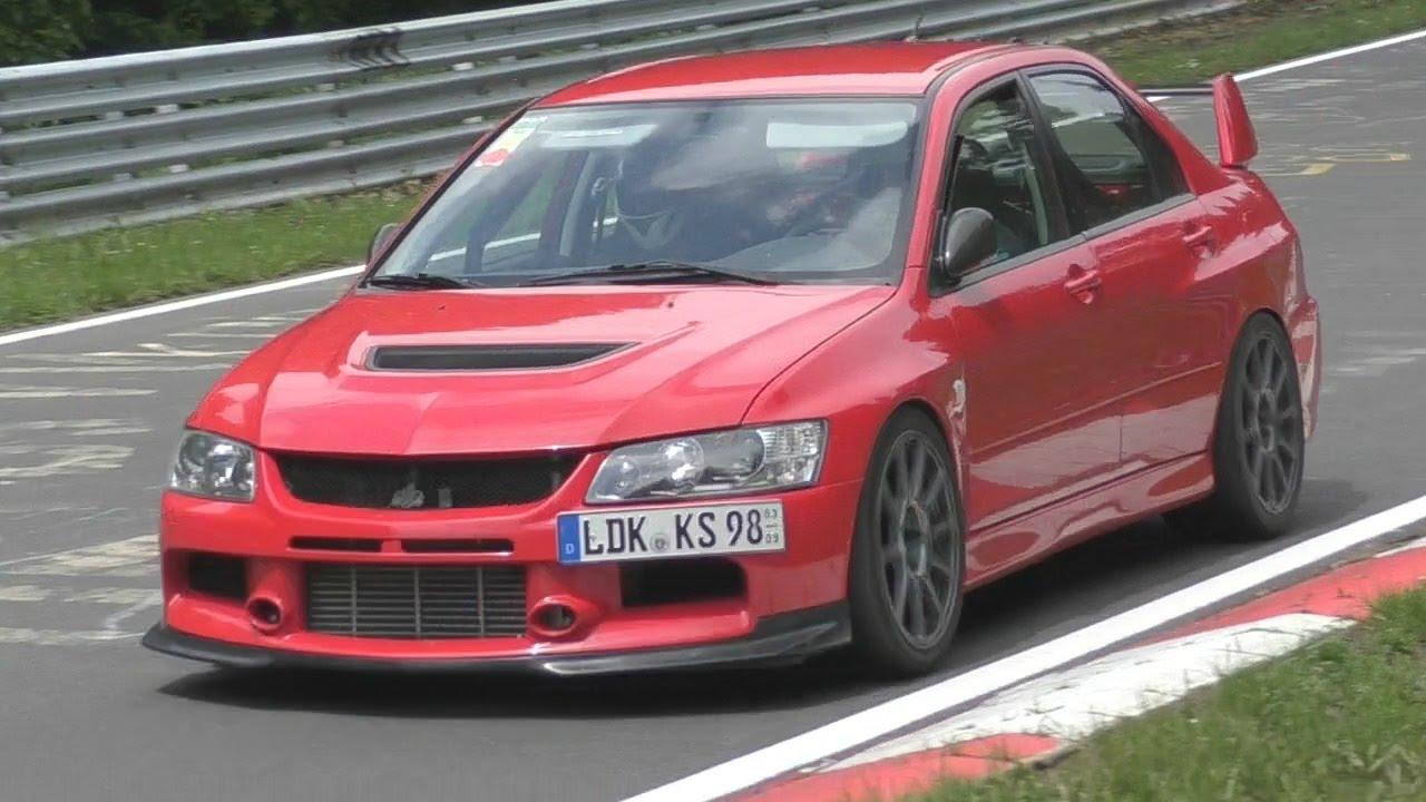 Mitsubishi Evo Nürburgring Compilation!