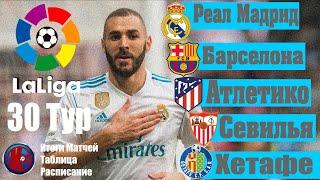 30 тур Чемпионат Испании по футболу ЛА ЛИГА 2019 2020 Итоги матчей 30 тура расписание 31 тура