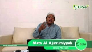 Matn Al Ajurrumiyyah 22: <b>Tamyiz</b> (Keterangan Zat)