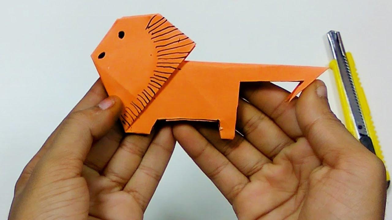 Origami animal how to make a paper lion origami learn paper origami animal how to make a paper lion origami learn paper folding origami tutorial for kids jeuxipadfo Choice Image
