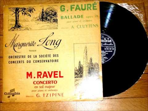 Ravel: Piano Concerto in G - 2. Adagio Assai - Marguerite Long (1952, Columbia 33 FCX 169)