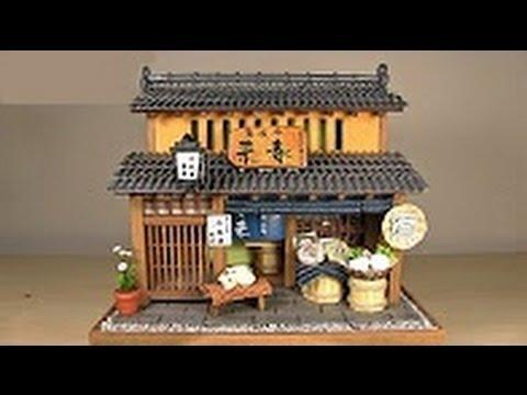 Lắp ghép mô hình gỗ nhà truyền thống Nhật Bản thu nhỏ siêu dễ thương