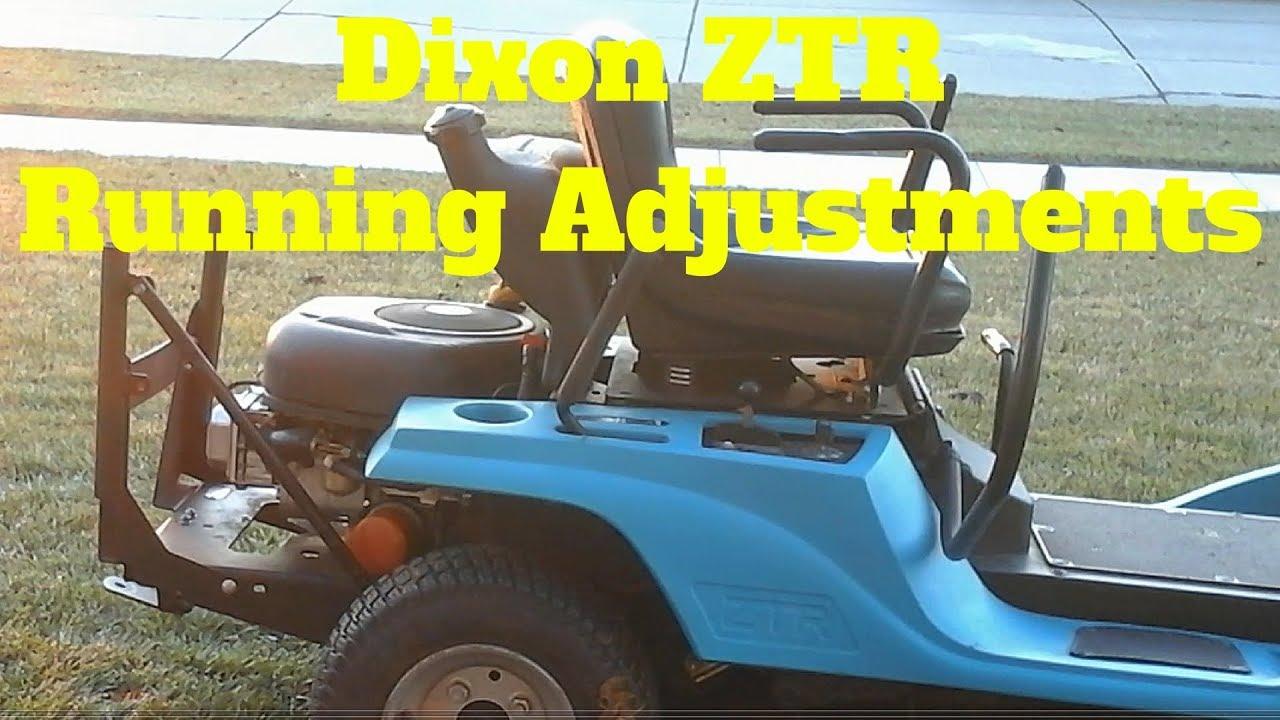 Dixon ZTR Running Adjustments - YouTube