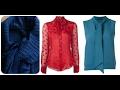 Scarf Collar Top - Sew Scarf Neck Collar Design / Scarf Collar Dress / Kurti / Shirt / Tunic / Tee