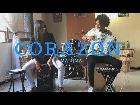 Corazón - Maluma ft Nego do Borel Acordeón y Cajón Cover Mulett ft Lina Quintero