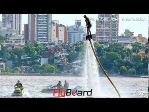 Flyboard, deporte acuático en Playa San José, Encarnación Paraguay