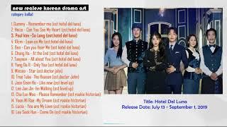 New Release Korean Drama Ost September 2019 part 1 (Ballad)