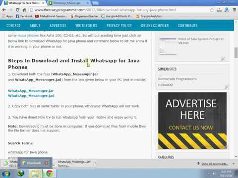how to download whatsapp on java phone