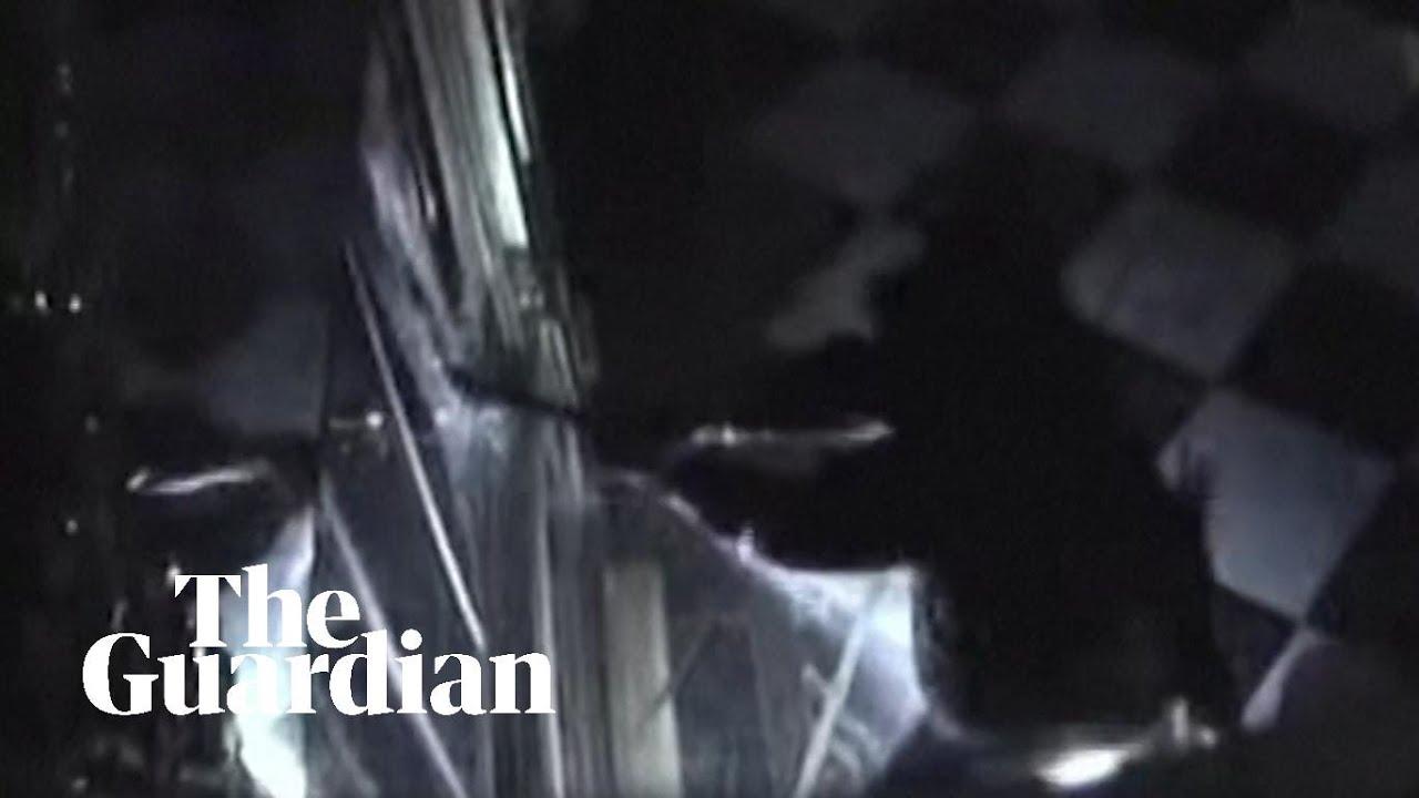 Dresden jewellery heist: moment thieves break in captured on CCTV