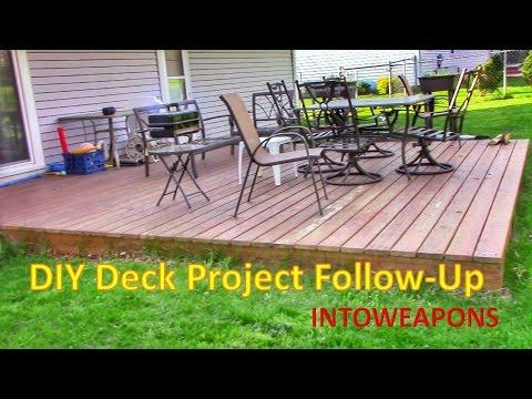 Diy Building Ground Level Deck Year Follow