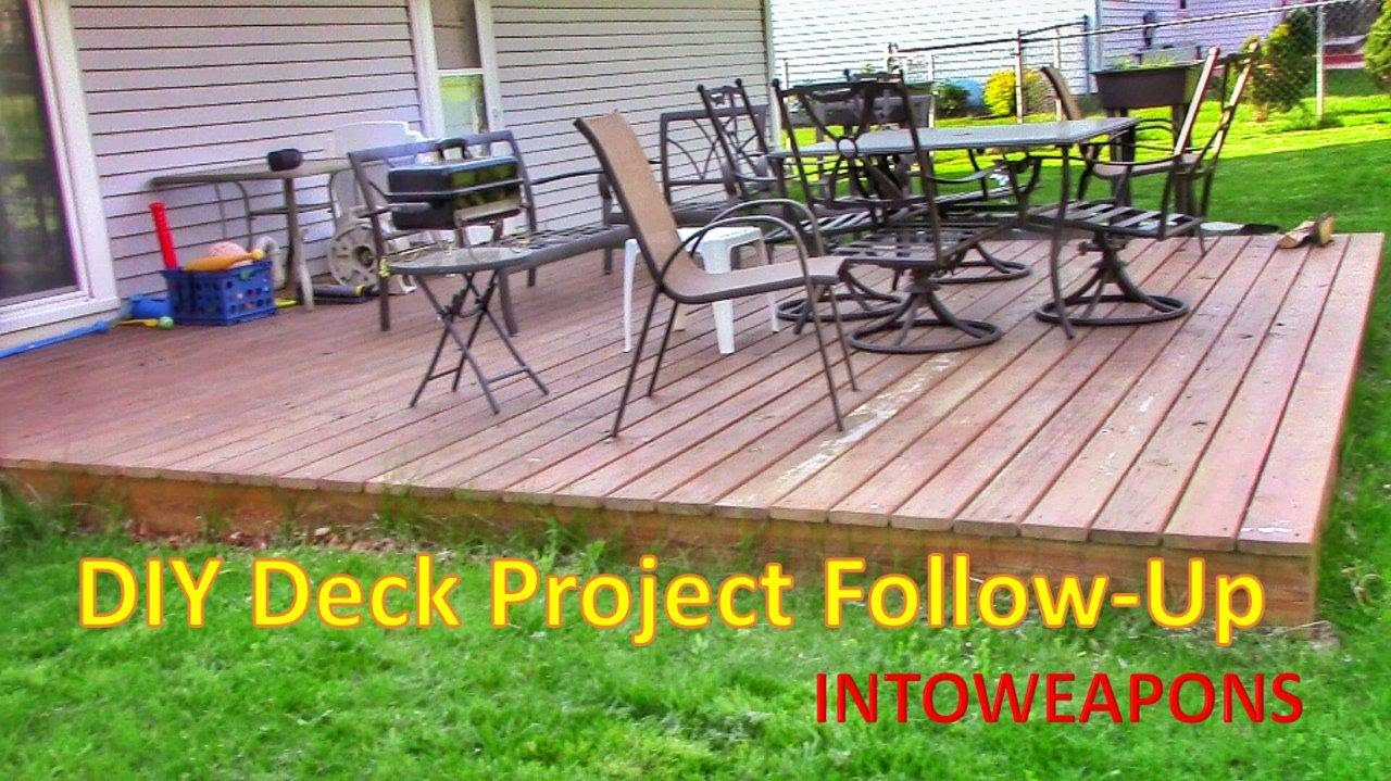 Diy Building A Ground Level Deck 2 Year Follow Up Youtube