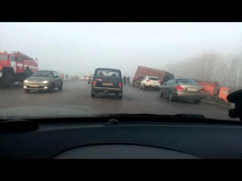 Появилось видео жуткой аварии на воронежской трассе
