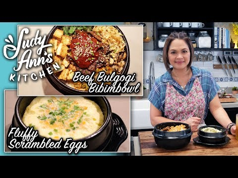 [Judy Ann's Kitchen 10] Ep 1 : Fluffy Scrambled Eggs, Bulgogi and Bibimbap | Korean Dishes