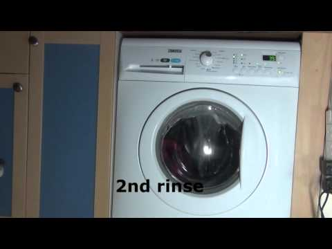 Zanussi aquafall ZWHB7160 : Cotton Quick + extra rinse : Rinses and Final spin (2 of 2)