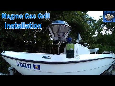 Magma Grill 3 Kettle Gas Marine Installation DIY Yamaha 190 FSH 210 FSH 240 FSH