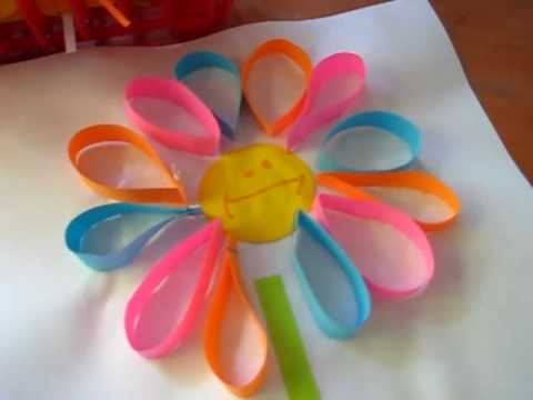 Arts Crafts Activity Idea Colorful Paper Loop Flowers