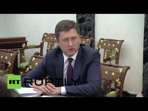 Russia: Putin and Novak talk Ukraine gas prices