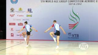 Mixed Pairs France 2 - Aerobic Worlds 2012