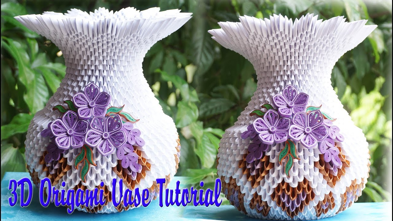How To Make 3d Origami Vase V1 Diy Paper Vase Handmade Decoration