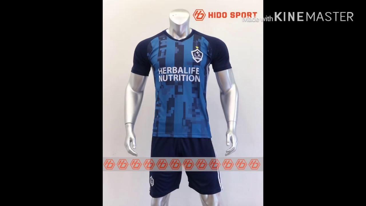 Quần áo bóng đá CLB LA GALAXY màu Xanh Đen đồ đá banh mới 2019-20
