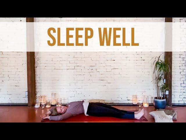Yoga voor een goede nachtrust (20 min) | Yoga met Sarah