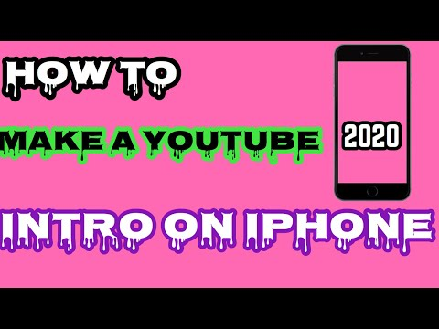HOW TO MAKE A INTRO ON IPHONE 2020