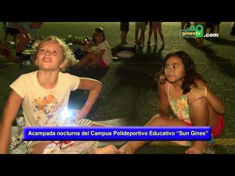 Acampada nocturna del Campus Polideportivo Educativo Sun Gines 2016