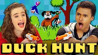 Duck Hunt (nes) (teens React: Retro Gaming)