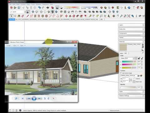 SketchUp Country House #9A