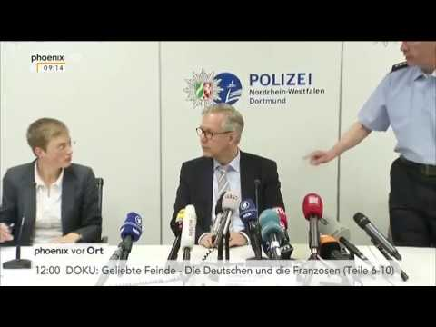 Pressekonferenz zu Explosionen nahe des BVB-Mannschaftsbusses vom 11.04.2017