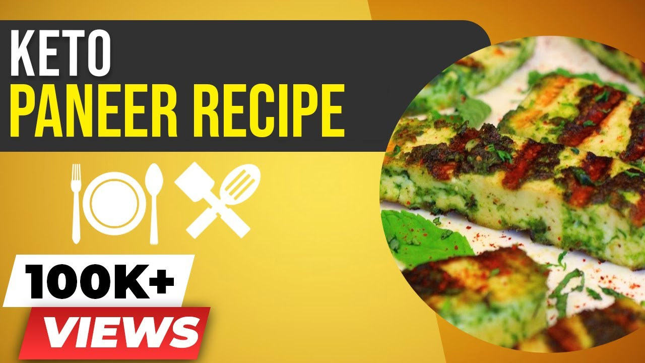 KETO Paneer Recipe - Paneer Hariyali Tikka - BeerBiceps Vegetarian Ketogenic Diet - YouTube