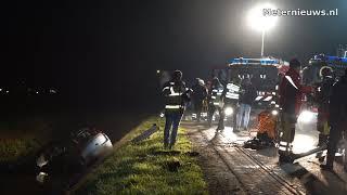 Auto te water in Nieuwleusen