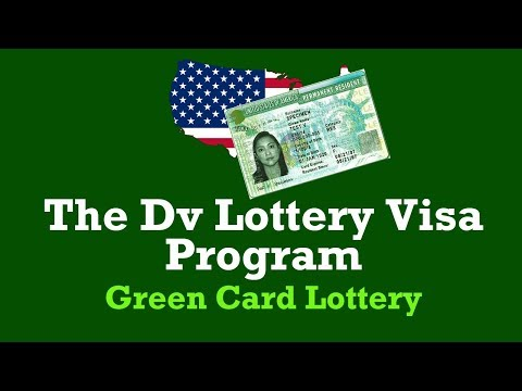 what is the green card lottery or us dv lottery program