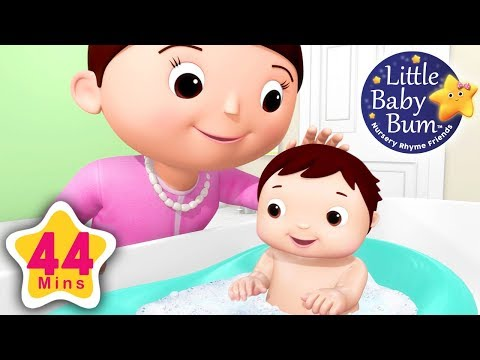 Baby Bath Song | Plus Lots More Nursery Rhymes | 44 Minutes Compilation from LittleBabyBum!