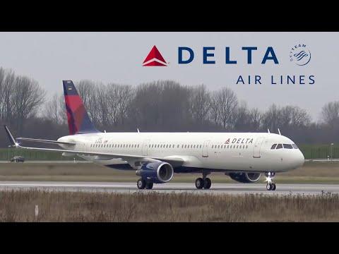First DELTA AIR LINES Airbus A321 | Takeoff & Landing @ Hamburg Finkenwerder Airport