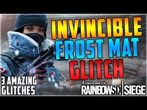 BULLETPROOF FROST MAT GLITCH - 3 INSANE GLITCHES - (Rainbow Six Siege)