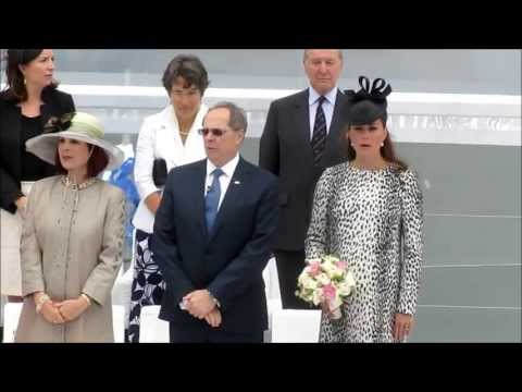 Kate Middleton christens Royal Princess cruise ship