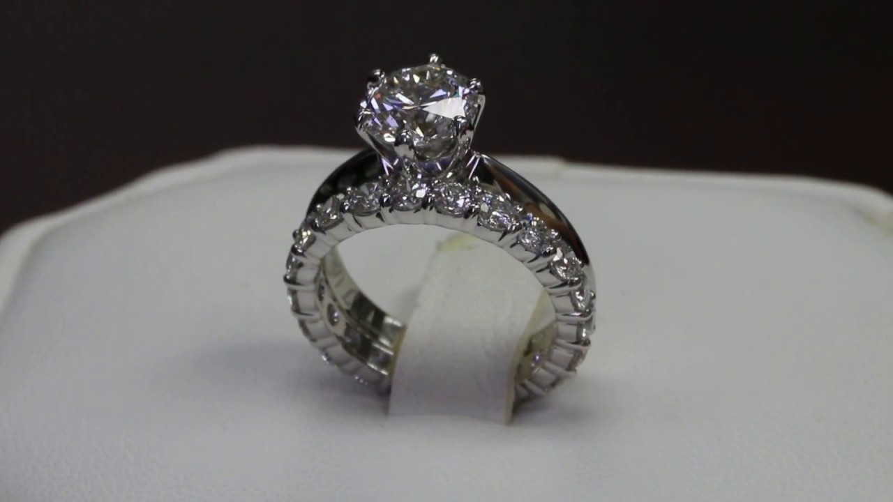 carat bo eternity in progressive bands ring ct emerald gold julie diamond del cut white tw leah products band