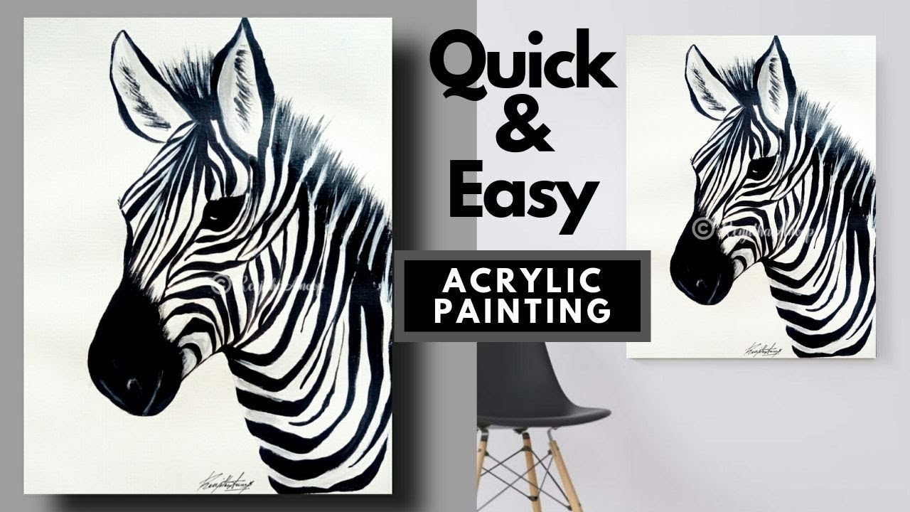Easy Acrylic Painting Tutorial For Beginners Easy Step By Step