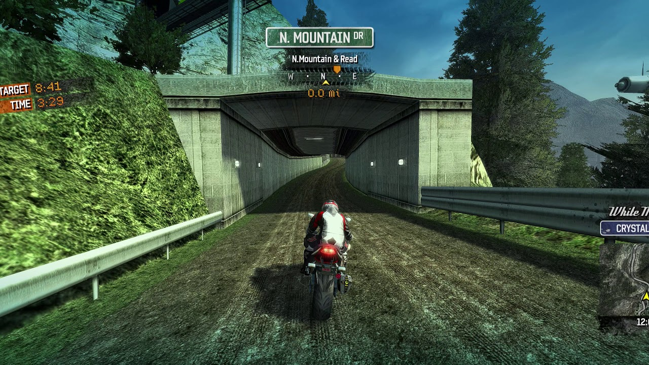 Burning ride (on motorcycle) with Enhanced graphics quality at Ultra wide 5K resolution