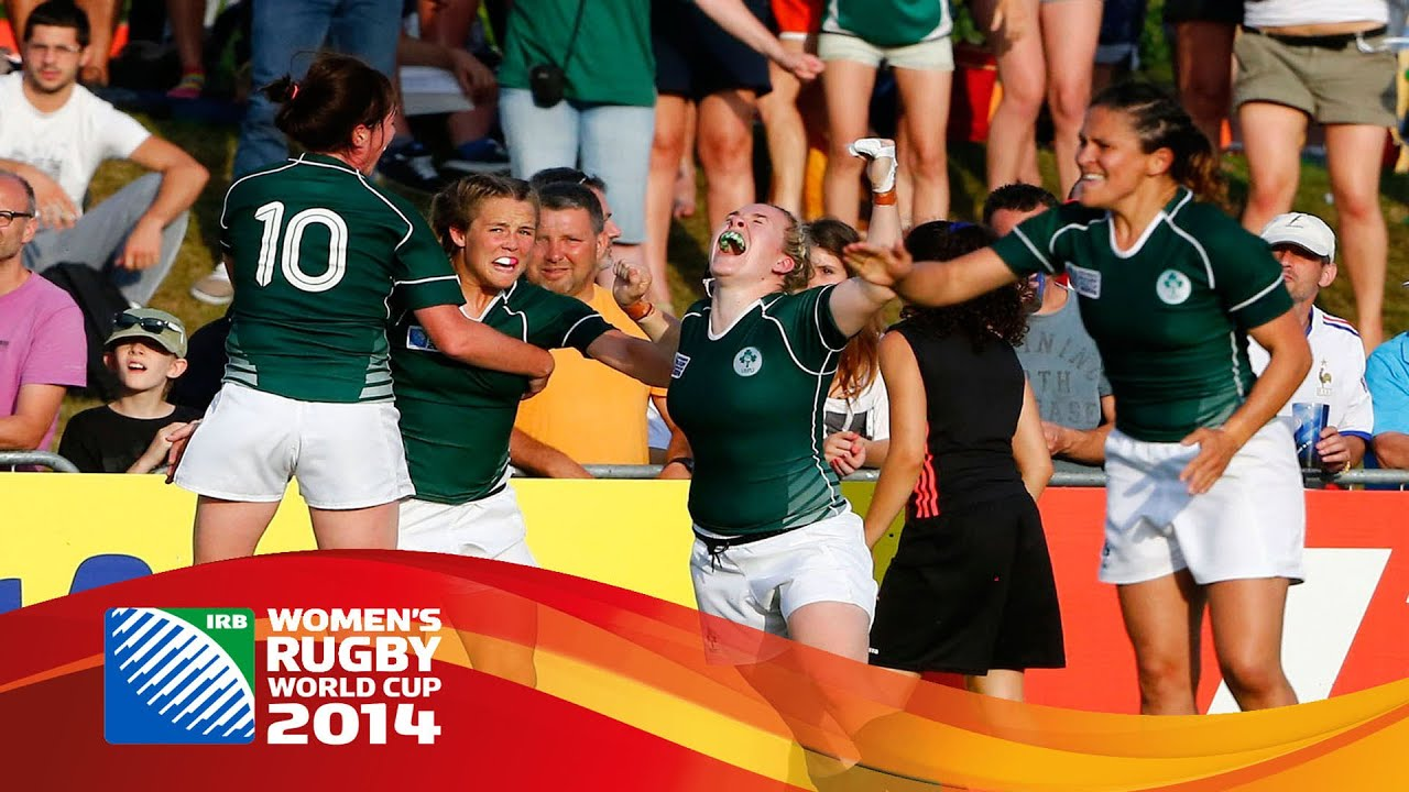 Highlights New Zealand 14 17 Ireland At Women S Rugby World Cup Youtube