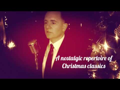 Christmas drinks reception singers, retro crooner
