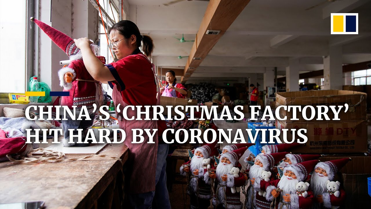 Coronavirus stealing Christmas cheer from Yiwu, China's hub for seasonal product production