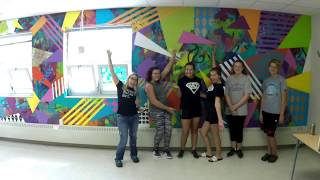 Art Club Paints an Abstract Mural