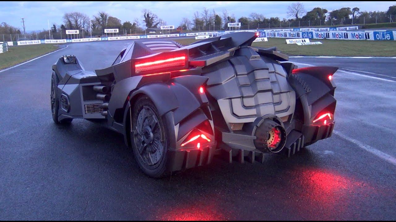 First Lamborghini Ever Made >> The NEW Team Galag Batmobile | Gumball 3000 2016 - YouTube