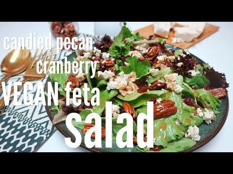 Candied Pecan, Cranberry, VEGAN Feta Salad