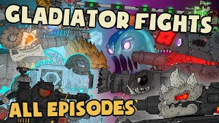 Gladiator fights of Demonic monsters : All episodes - Cartoons about tanks