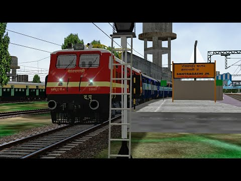 Howrah - Digha Tamralipta SF Express || Journey From Santragachi To Mecheda || Msts RailIndia Route